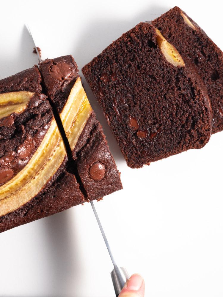 Bananenbrot mit Schokolade